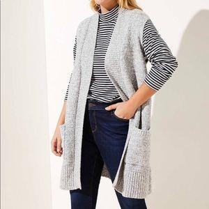 ❤️3/20$ ANN TAYLOR LOFT Duster sweater w/…